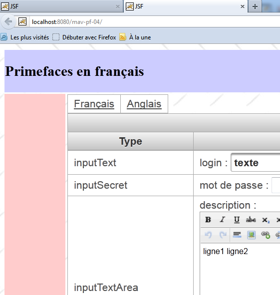 tutoriel JSF2 Primefaces Mobile